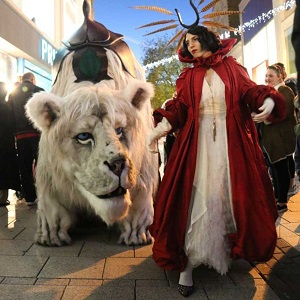 A truly spectacular Snow Lion act has just been released into the Wild! Combining animatronic puppetry, spectacular costumes, magical characters and music into an experience like no other.