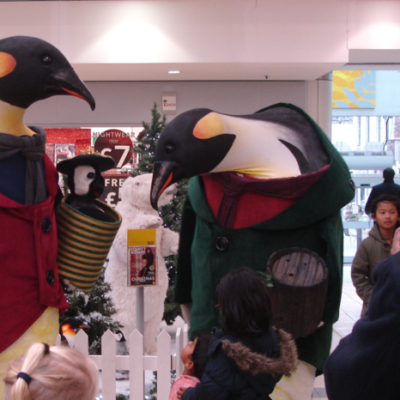 Festive Giant Penguins