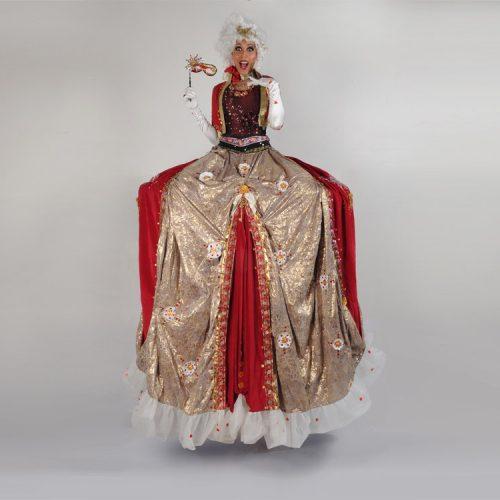 Powder & Wigs Masquerade Stilts
